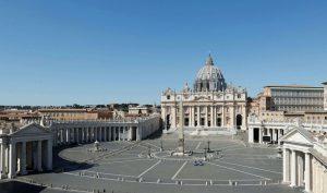 Halaman Basilika Santo Petrus, Vatikan Tempat di mana Paus Fransiskus sering gelar Misa pada saat Paskah dan Hari Raya lainnya (Foto: Dok. Vatican News)