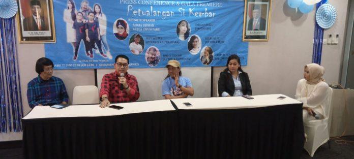 Konferensi Pers saat Peluncuran Film Petualangan Si Kembar di Mavtel Hotel Jakarta (Dok. Tim)