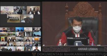 Anwar Usman - Ketua Mahkamah Kontitusi Republik Indonesia dalam Sidang Putusan Sengketa Hasil Pemilihan Bupati Malaka tahun 2020 pada Kamis, 18 Maret 2021 (Foto: Istimewa)